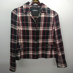 Liz Claiborne  Plaid Jacket